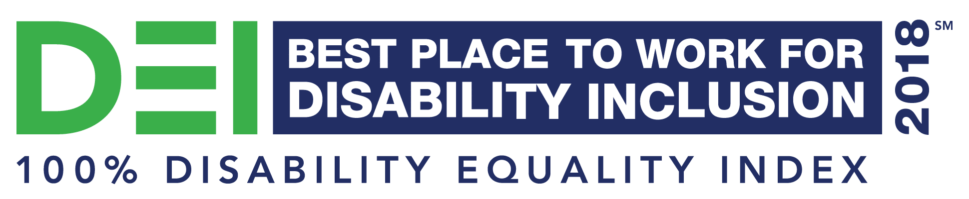 Best Places to Work 2018 Disability Equality Index logo