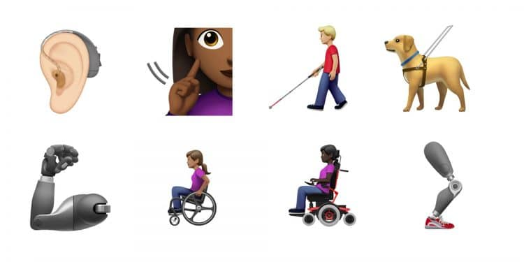 New emojis of people with disabilities