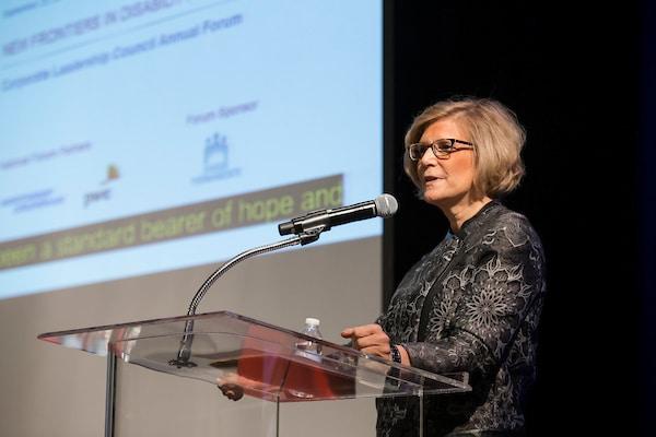 NOD President Carol Glazer delivering opening remarks