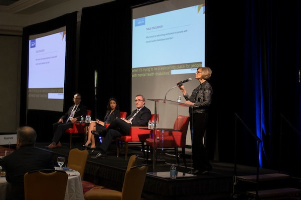 NOD President Carol Glazer shares her mental health story in first panel discussion