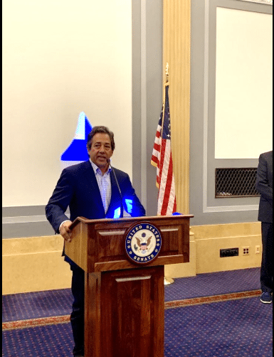 National Organization on Disability Board Vice Chair and Palm Beach resident Luke Visconti speaks in Washington, D.C. on Wednesday.