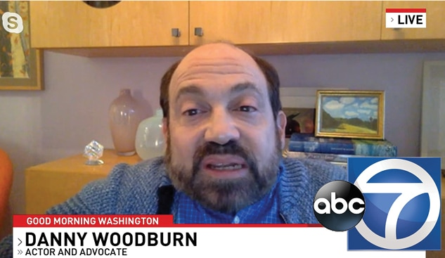 Video still of Danny Woodburn interview