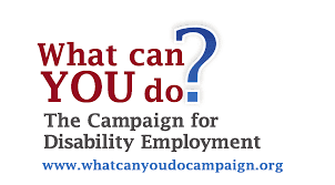 What Can you do? Campaign for Disability Employment logo