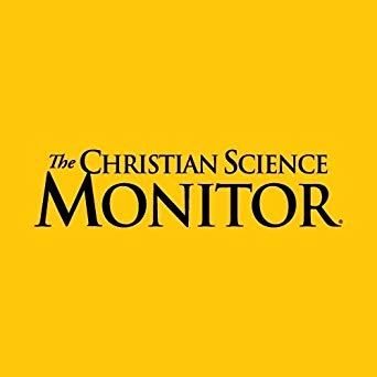 "Yellow background with black text reads ""The Christian Science Monitor"""