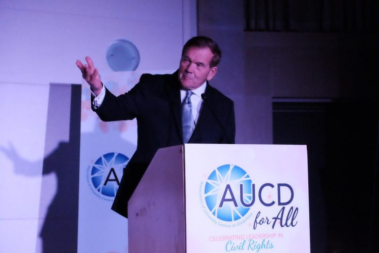 NOD Chair, Gov. Tom Ridge gesturing while speaking