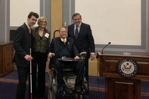 NOD's Charles Catherine, Carol Glazer, Rep. Jim Langevin and Gov. Tom Ridge