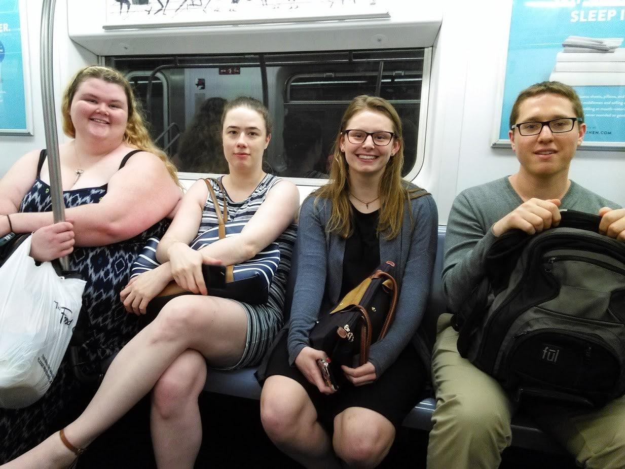 KG with NOD team on train