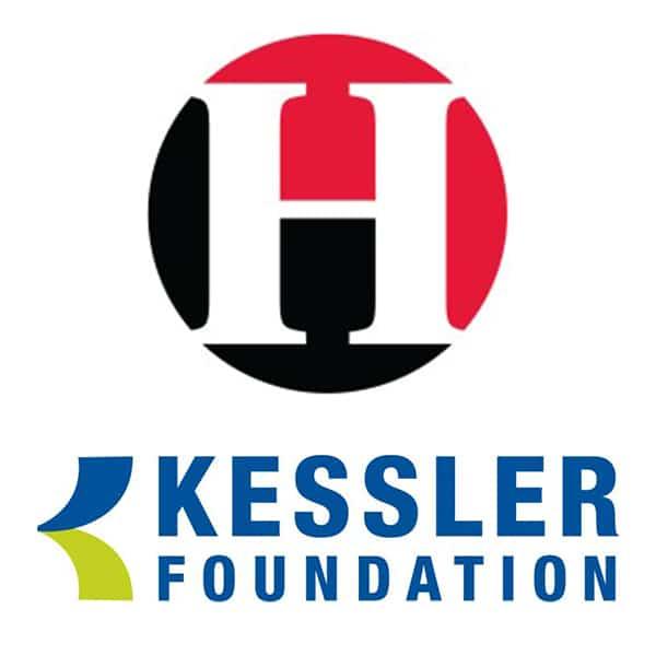 Kessler Foundation logo and John J. Heldrich Center logo