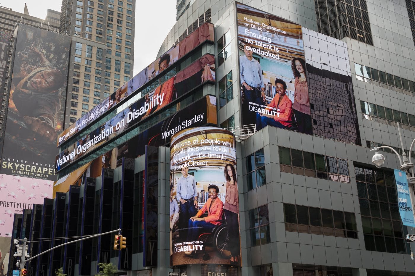 Look Closer on digital billboards in Times Square