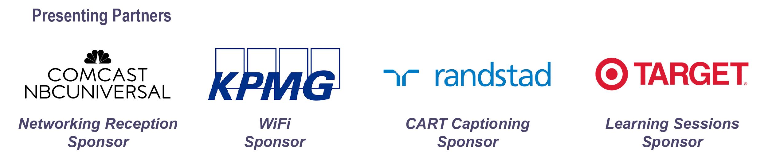 Comcast NBC Universal; KPMG; Randstad; Target