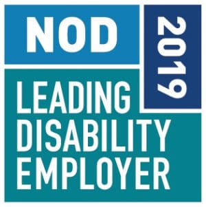 NOD 2019 Leading Disability Employer Award logo