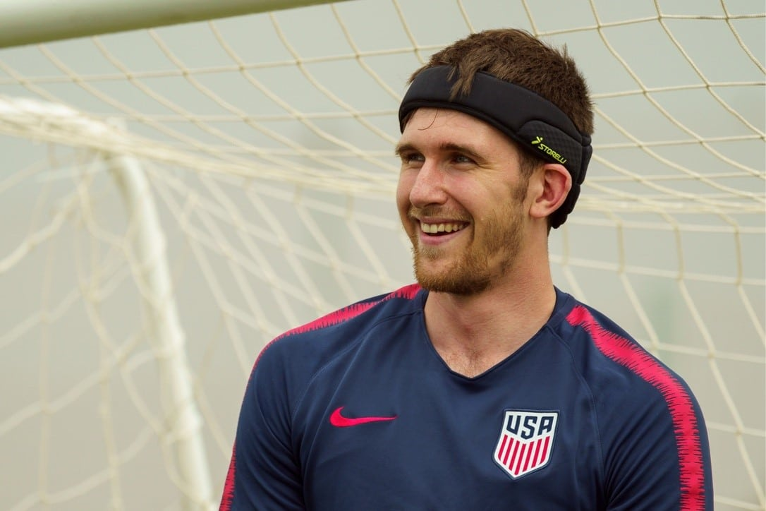 Sean Boyle guards the net for US Soccer