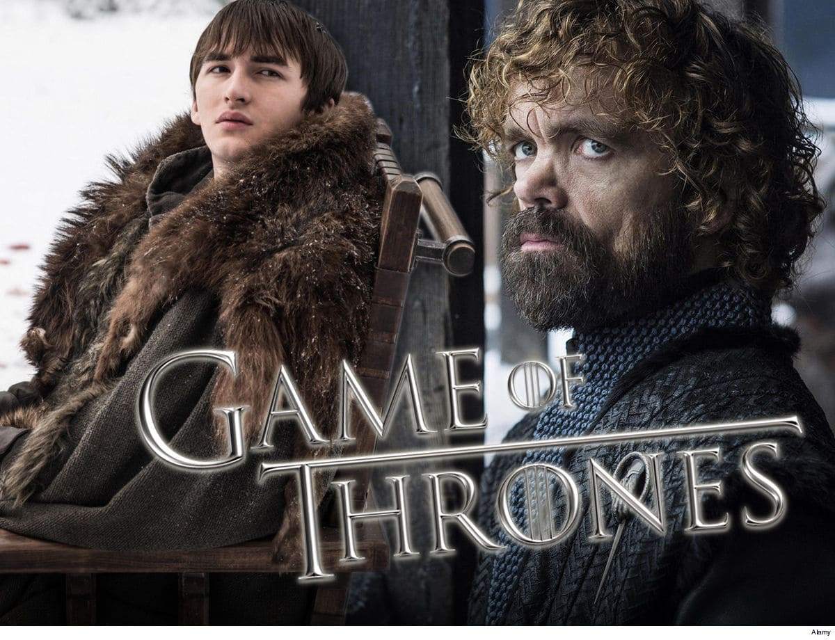 "Graphic featuring Game of thrones characters Bran Stark and Tyrion Lannister with header ""Game of Thrones"""