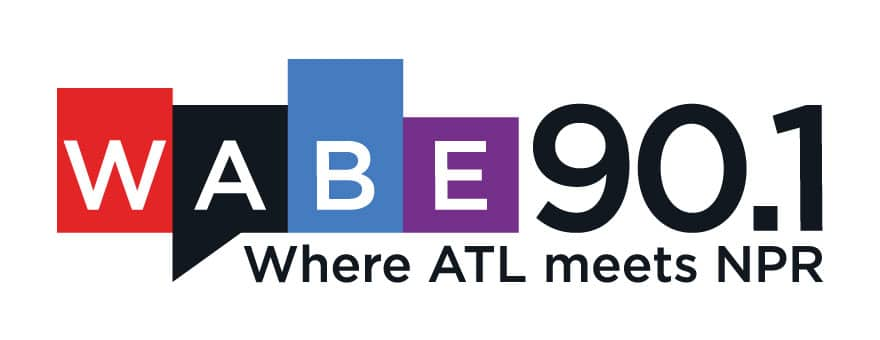 "WABE logo with tag line reading: ""Where ATL Meets NPR"""