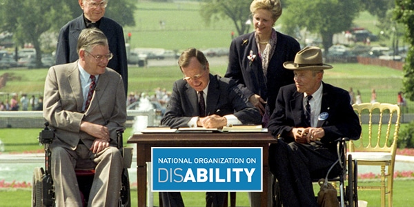 President George HW Bush signing the ADA
