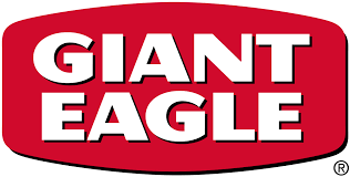 Oval Giant Eagle logo with white text on red background