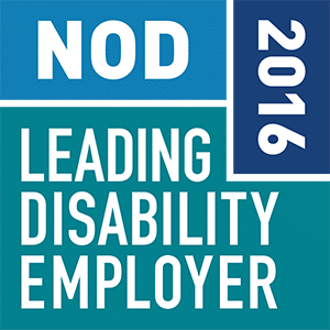 2016 Leading Disability Employer Seal of Approval