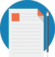 Icon of a document and pencil