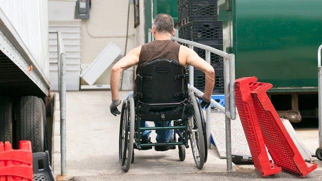 Worker in a wheelchai